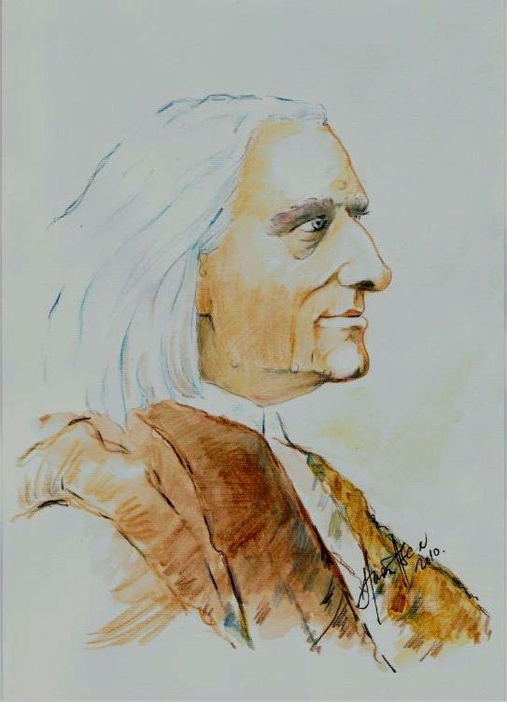 Liszt   Ferenc  zeneszerző.