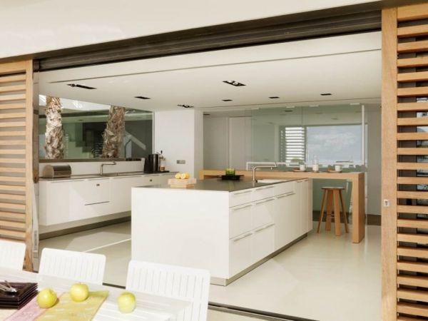 k che esszimmer kochinsel raumgestaltung vorschl ge ausstattung wei akzente holz k che. Black Bedroom Furniture Sets. Home Design Ideas