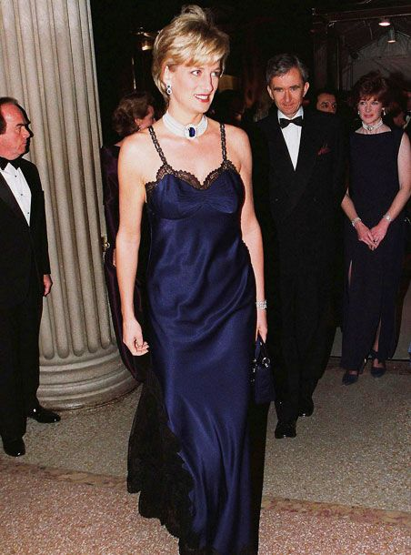 Galliano - 'My debut for Dior - and dressing Diana, Princess of Wales for the MET.' 1996 Brings together a number of elements for me. Iconic image of Diana the year before her death. Link to Diana the Huntress. Could be a suitable negligee or basis of an evening gown for Tourvel.