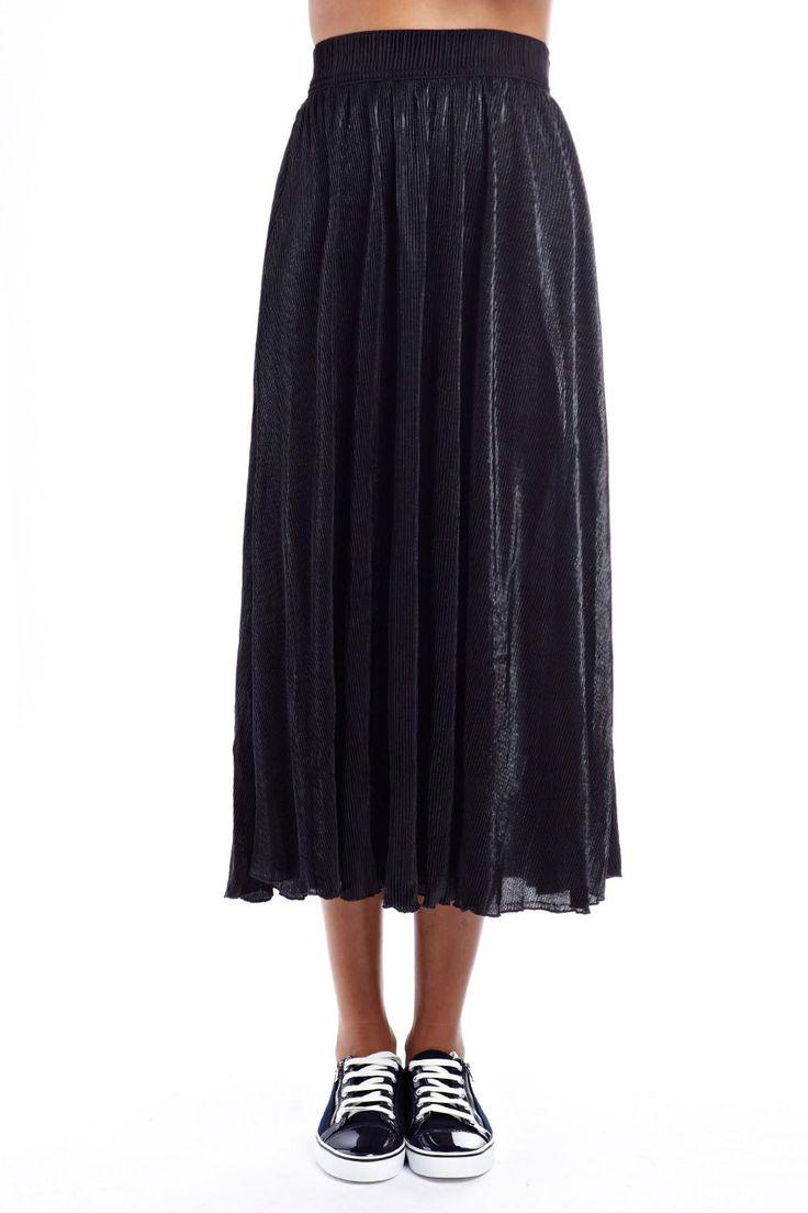 Q2 - Black metallic maxi skirt - 39,90 € -