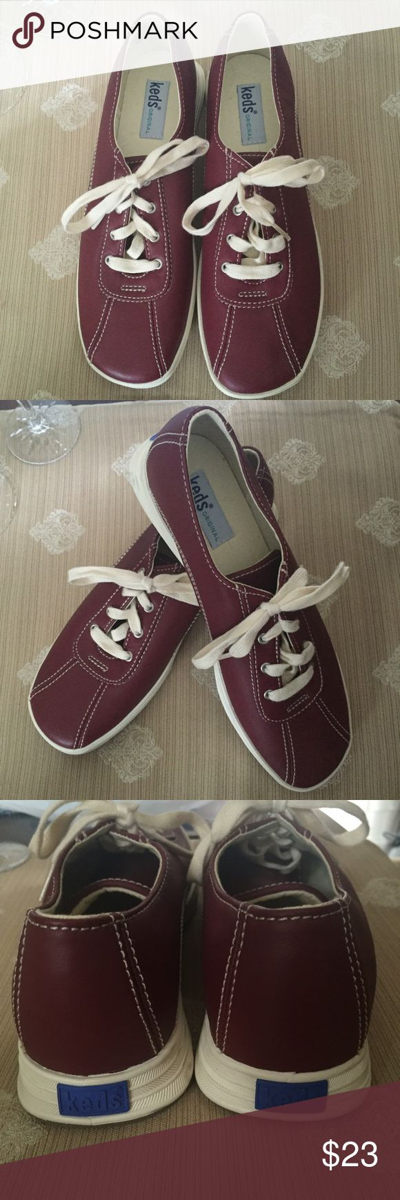 Leather Keds sneakers...size 9 Perfect new leather Keds sneakers...size 9...from a smoke-free home! Keds Shoes Sneakers