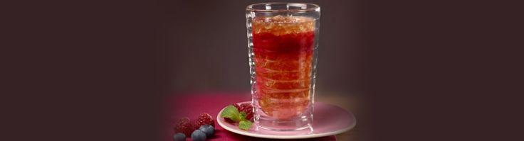 Iced raspberries