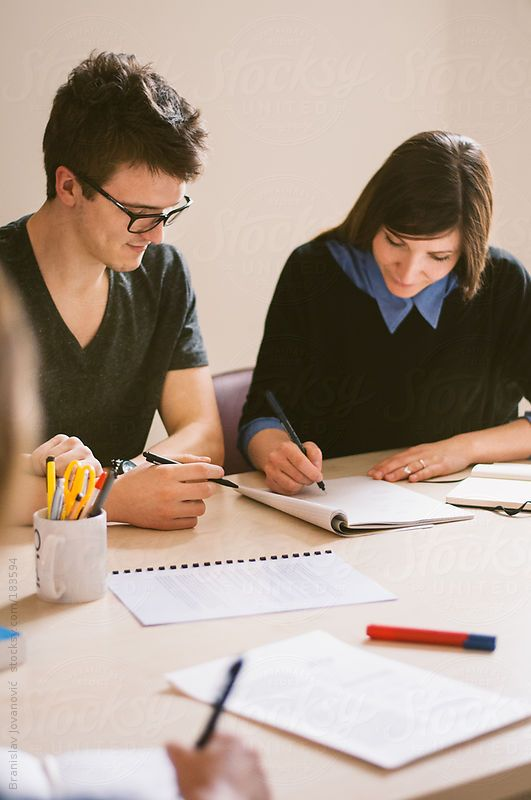 Students in the classroom by BrkatiKrokodil | Stocksy United