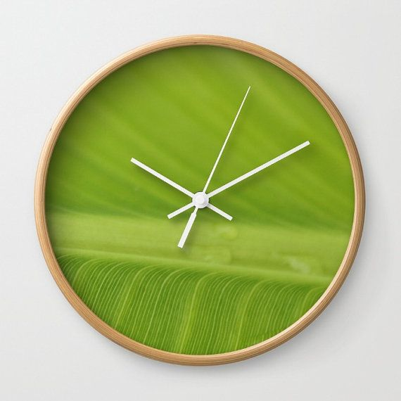Tropical Wall Clock Banana Leaf Decor tropical by LongForgotten