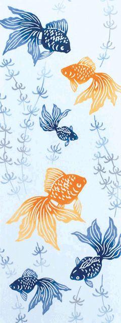 水草に金魚                                                                                                                                                                                 もっと見る