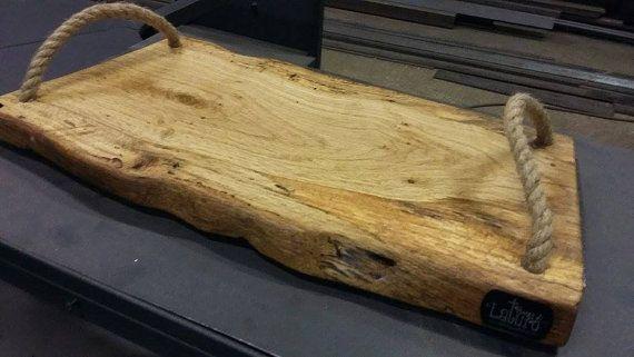 Tagliere vassoio in legno rustico Artigianale by BottegaDiLaturo