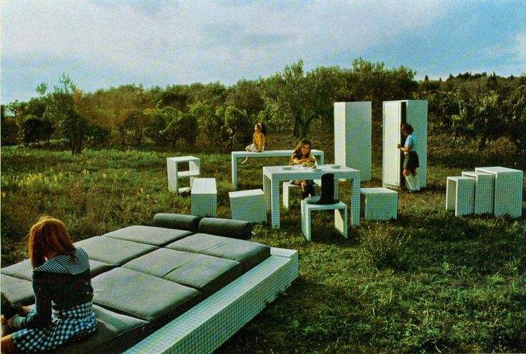 Superstudio's Misura Furniture Series, 1969-1970