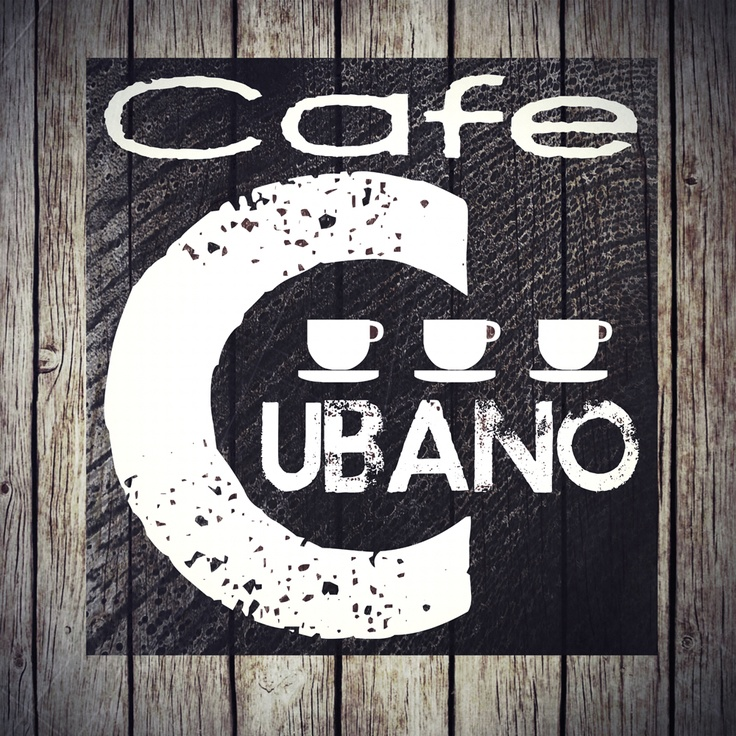 Cafe Cubano poster. #coffee