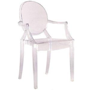 Louis Ghost Chair - Modern Acrylic Arm Chair