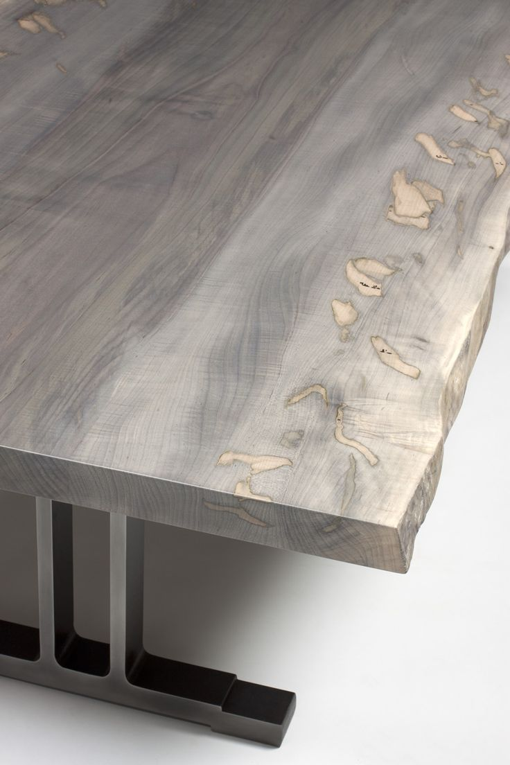 oxidized maple slab table