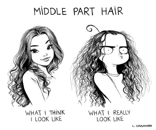 Image result for parting your hair down the middle memes