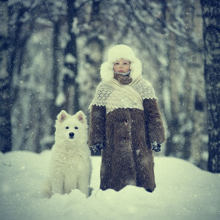 by Vladimir Zotov #kids #winter : Dogs, Best Friends, Lace Shawl, Winter Photography, Boys, Snow Pictures, Lace Knits, Kid, Vladimir Zotov