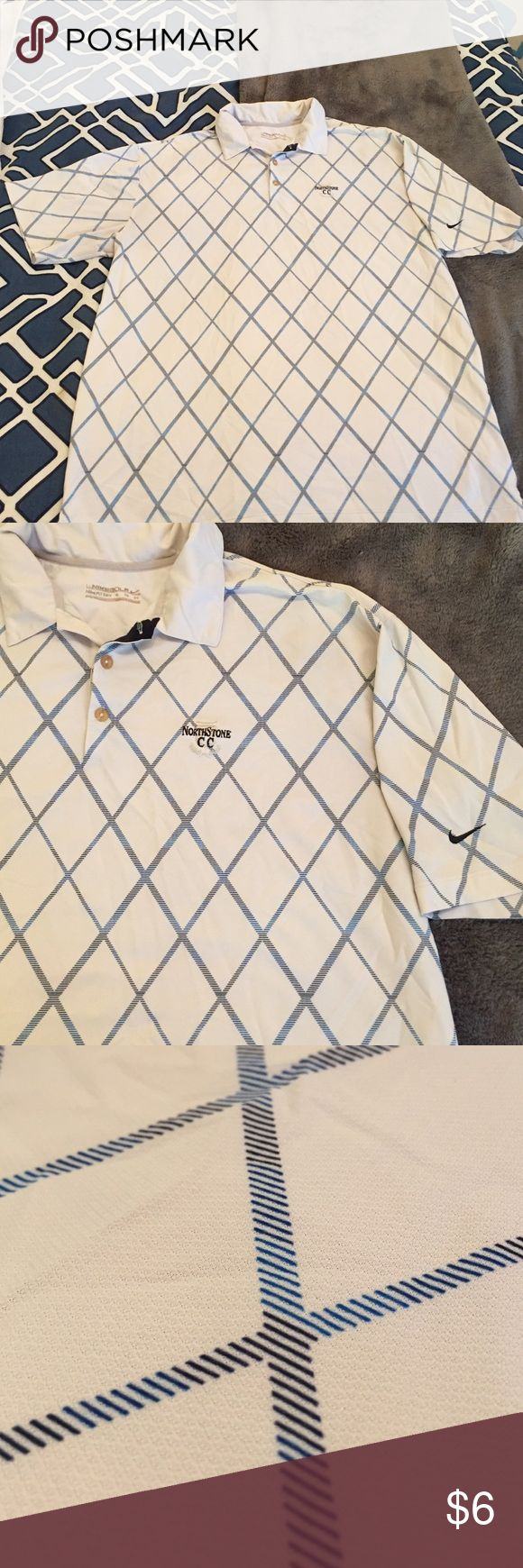 Men's golf polo Used men's Nike golf polo. Appears to be in ok used condition but does have wear to it Nike Shirts Polos