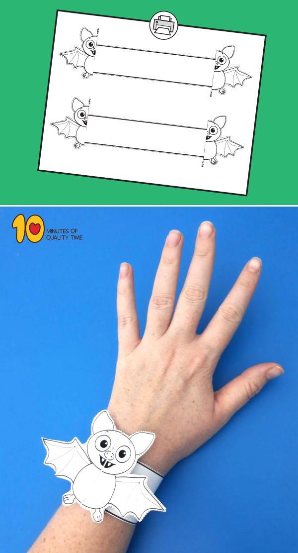 Halloween Bat Printable Bracelet 10 Minutes of Quality