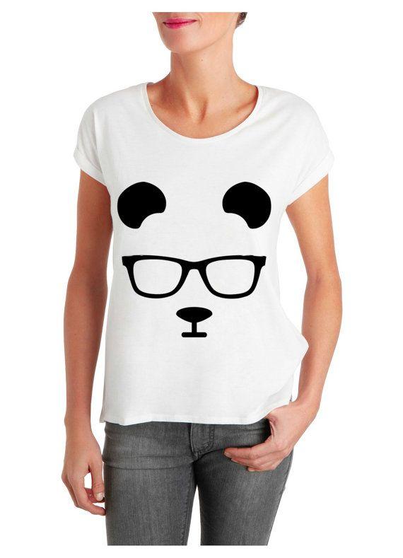 panda fan art t shirt woman size  XS  3XL Printing by ElegantPuss, $18.00