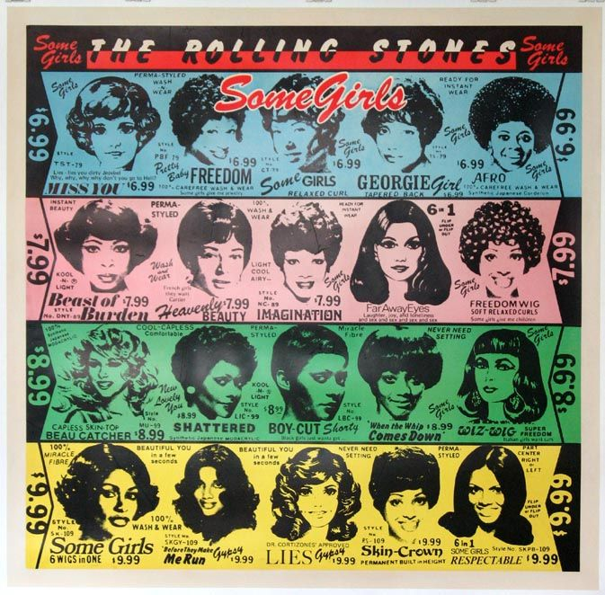 """THE ROLLONG STONES (1978) Promo poster for """"SOME GIRLS"""" tour.  Original poster 48x48,"""
