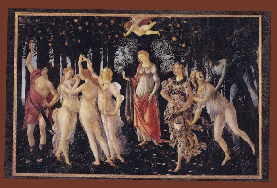 Sandro Botticelli Primavera Allegory of Spring by teogonia on Etsy