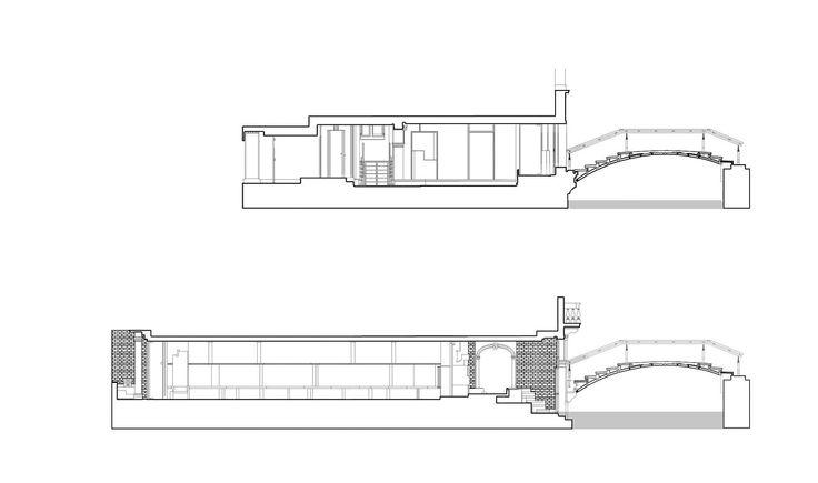 Secciones. Palazzo Querini Stampalia por Carlo Scarpa, 1961-1963.