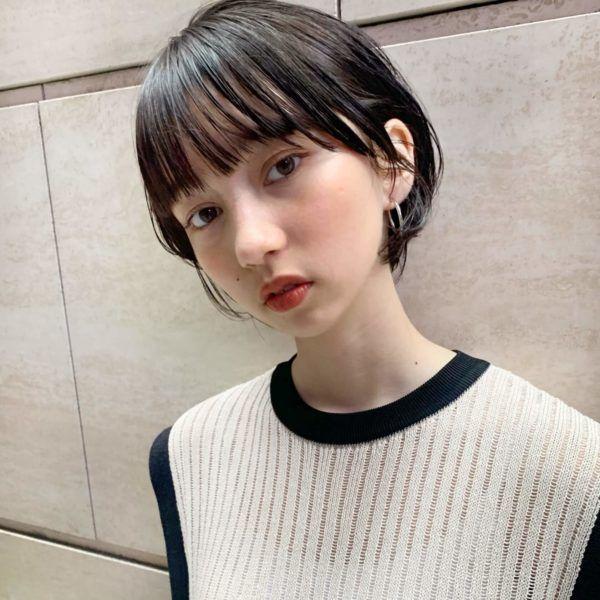 ストレート ナチュラルショートボブ Garden Tokyo Komaki のヘア