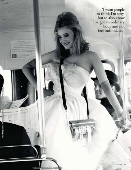 Romola Garai, black and white, in a wedding dress http://RomolaGarai.org