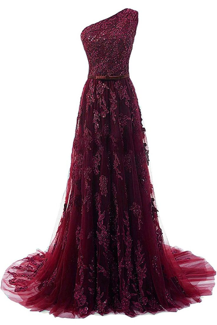 Nicefashion Women's Elegant Lace Applique Beaded Floor Length Formal Gowns 2017 Prom Dress Burgundy US16. Lace Tulle Fabric,Full Lined. One Shoulder,Zipper Back. Occasion:Evening Dress,Prom Gowns,Wedding Party Dress,New Year Eve Dress or other formal parties. Size: US2-16 or Customized sizes are also available. Any other questions,please feel free to contact us,we're always at your service.