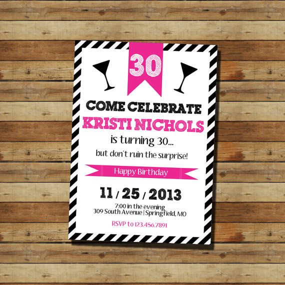 19 best Ideas for my 30th birthday party!! images on Pinterest - fresh invitation for birthday party by email