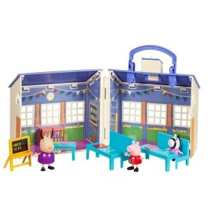 Peppa Pig School House Playset Figures Toys