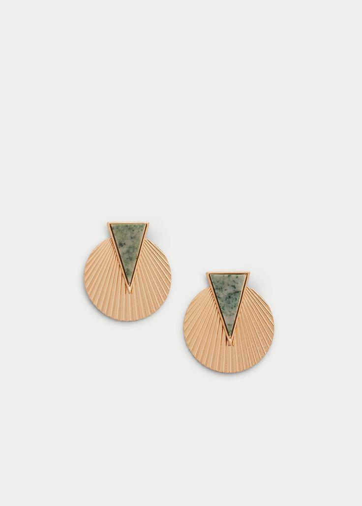 Semiprecious stone earring | MANGO
