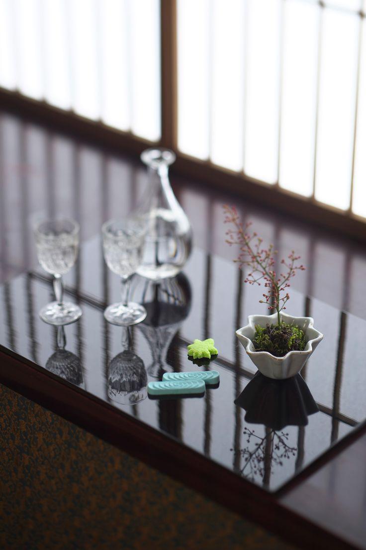 西山芳浩 六角徳利 現代 カットグラス 20世紀 阿蘭陀桔梗杯 17世紀