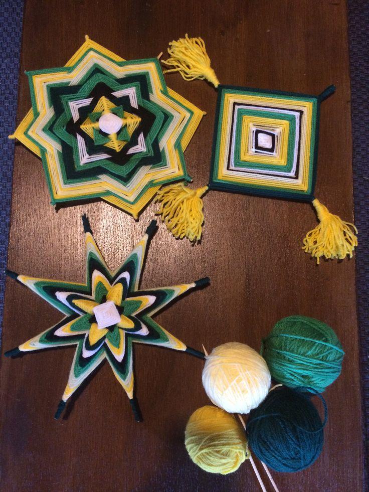 Huichol God's eye - Mandala. Weave your own, beginners level. Watch this video tutorial on Skillshare