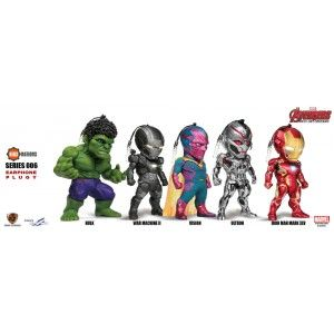 Avengers: Age of Ultron Kids Nations EarPhone Plugy Series SF 006 Set of 5