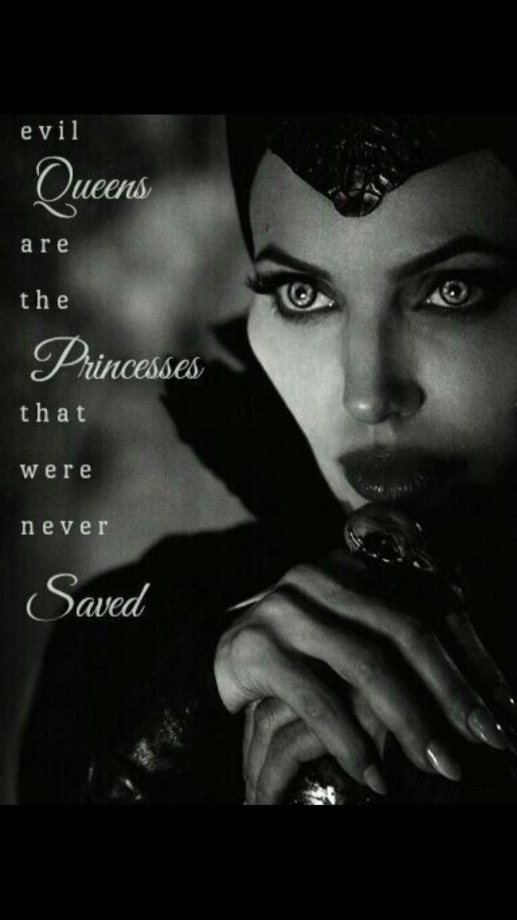 Evil queens are the princesses that were never saved - Regina anyone???????