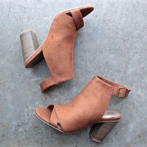 bc footwear puma peep toe heel