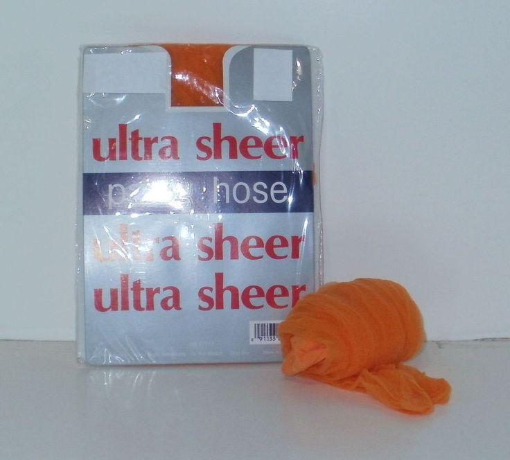 Orange Regular Size Pantyhose 6 Pairs Ultra Sheer Ladies Stockings New #Unbranded #Pantyhose