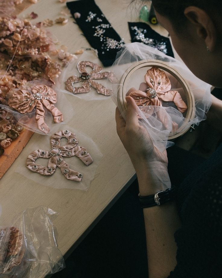 The making of Ulyana Sergeenko Fall-Winter 2017/2018 Couture collection #ulyanadreams #ulyanasergeenko #couture #ульянасергеенко #instacouture #paris #inspiration photo by @andreyefimov_