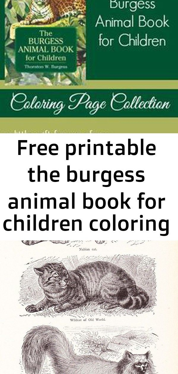 Free printable the burgess animal book for children ...