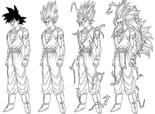 Free Coloring Pages Of Goku Super Saiyan 3: 50 Best Super Saiyan Goku Coloring Pages Images On