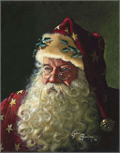Love this portrait of Father Christmas by Dean Morrissey.