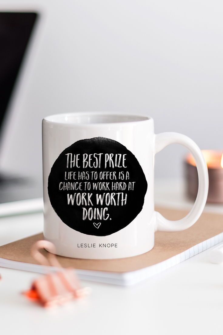 Christmas Gifts For Coworkers | Leslie Knope Quote | Parks And Rec Gifts | Inspirational Quote Mug | Leslie Knope Life Advice | Parks And Rec Mug | Girl ...