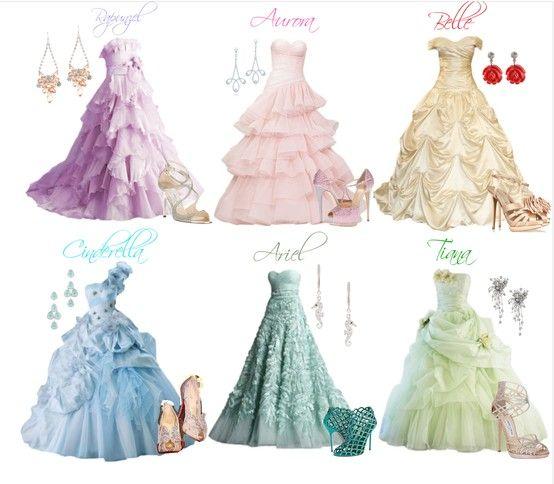 Disney Princess Dresses- Oh I want Belle's dress!!!