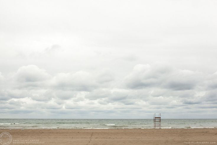 On the beach for a Scarborough Bluffs Wedding, Bluffers Park #sweetheartempirephotography