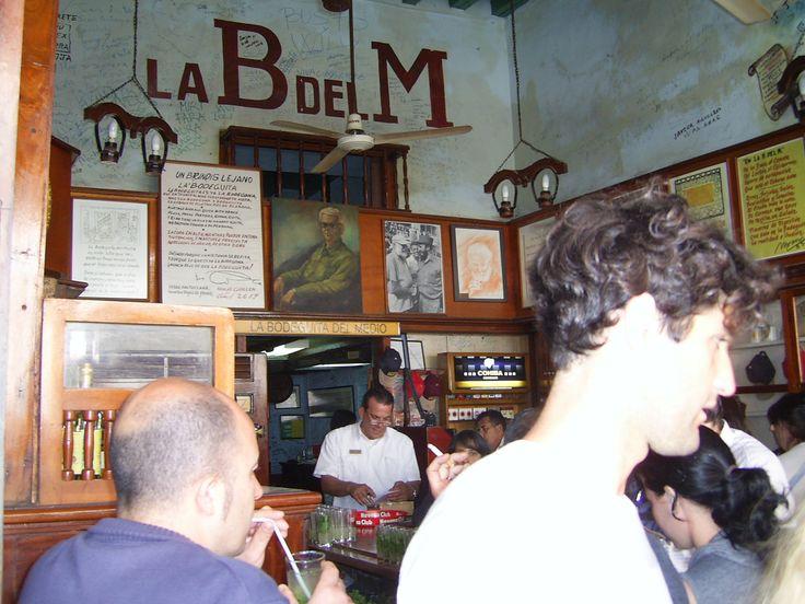 LA BODEGITA DEL MEDIO .. LIEU INCONTOURNABLE DE LA HABANE,où Emming Way dégustait les meilleurs mojitos du monde