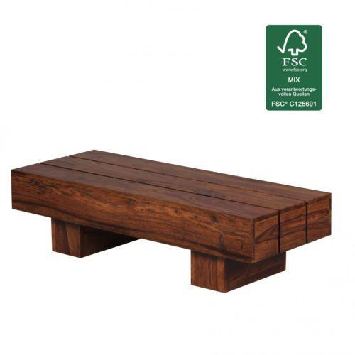 Design Sheesham Couchtisch Massiv Massivholz Wohnzimmertisch Neu In Mbel Wohnen Tische