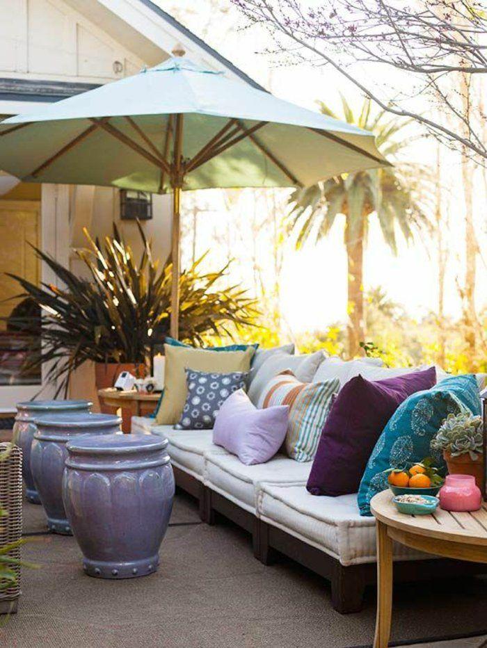 amenagement terrasse exterieur avec meubles conforama