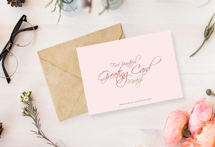 Flowery Invitation Card Mockup | MockupWorld