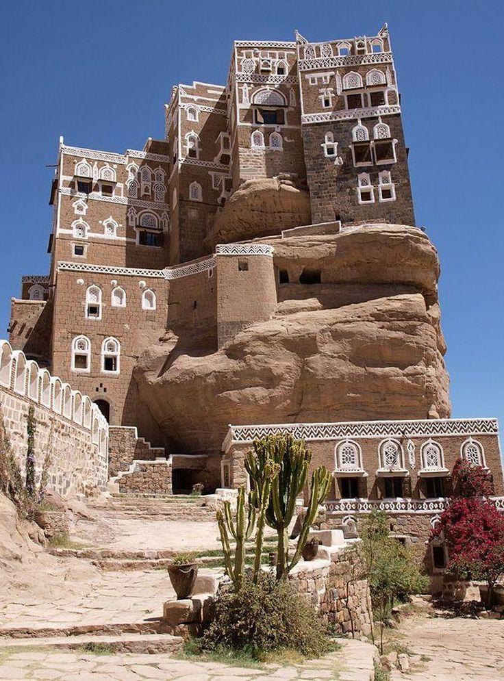 Dar al-Hajar, a mansion built in the 1930's as a summer retreat to Imam Yahya near Sana'a, Yemen