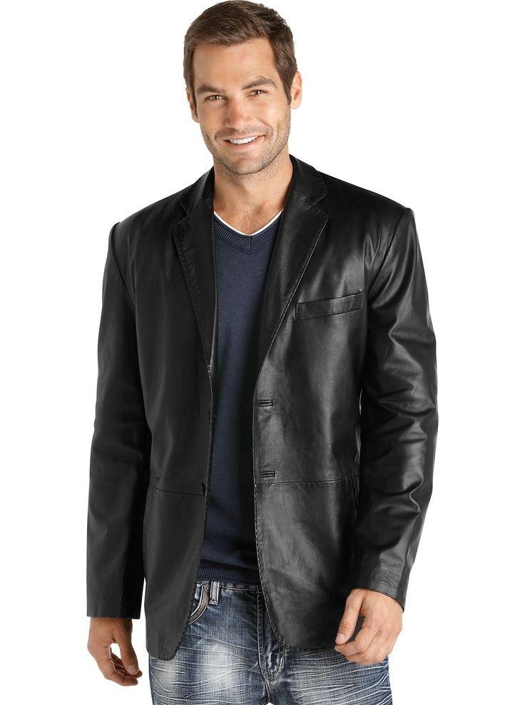 Mens Designer Leather Blazer