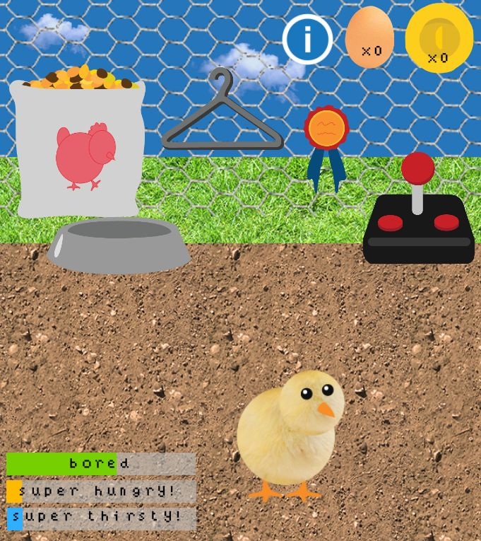 Free Pet Chicken game for Android (coming soon to iOS)