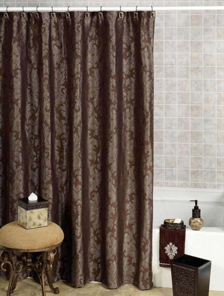 25 best ideas about brown shower curtains on pinterest. Black Bedroom Furniture Sets. Home Design Ideas
