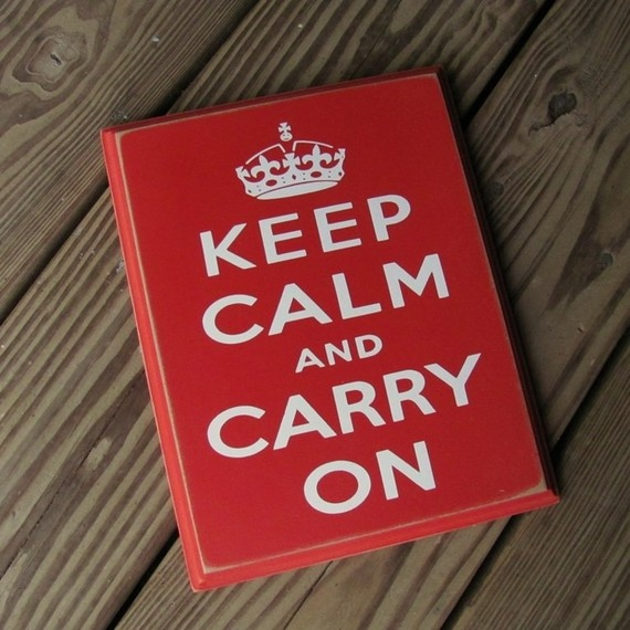 Custom 8x10 Keep Calm and Carry On Wood by WhimsicalXpressions, $20.00